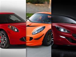 Alfa Romeo 4C vs Lotus Elise S vs Peugeot RCZ R